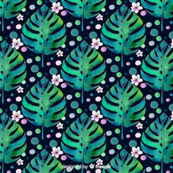 Aquarel monstera patroon