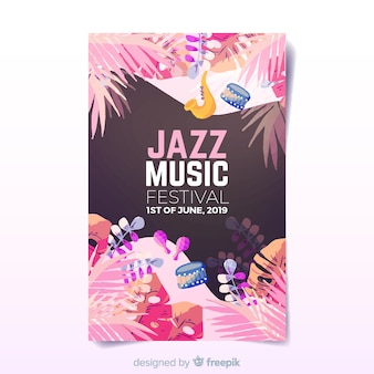 Aquarel muziek festivalaffiche