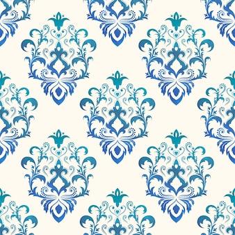Aquarel naadloze wallpapers in de stijl van barok