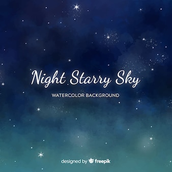 Aquarel nachtelijke hemelachtergrond