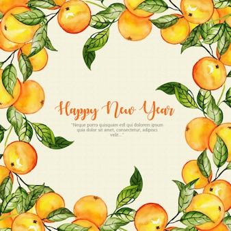 Aquarel nieuwjaar achtergrond