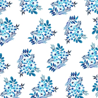 Aquarel nieuwjaar patroon achtergrond
