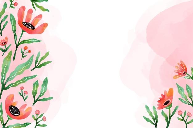 Aquarel ontwerp bloemen achtergrond