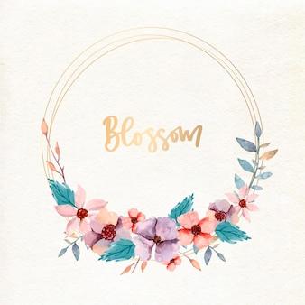 Aquarel ontwerp bloemen frame