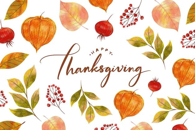 Aquarel ontwerp thanksgiving achtergrond