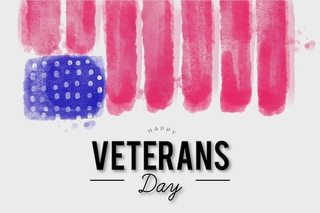 Aquarel ontwerp veteranen dag