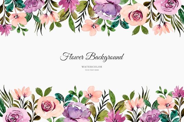 Aquarel paars roze bloem achtergrond