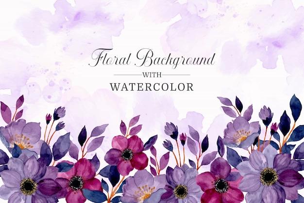 Aquarel paarse bloemen abstracte achtergrond