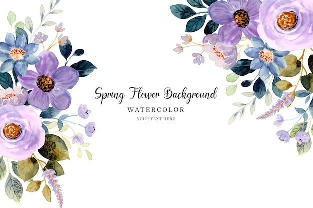 Aquarel paarse bloemen achtergrond