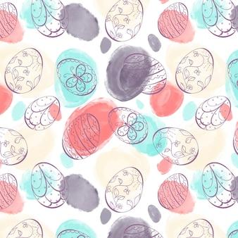 Aquarel pasen patroon