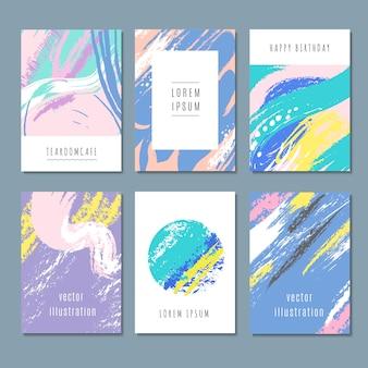 Aquarel pastel abstracte achtergronden