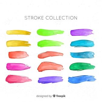 Aquarel penseelstreek collectie