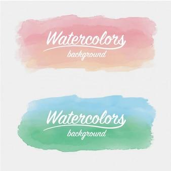 Aquarel penseelstreken ontwerp
