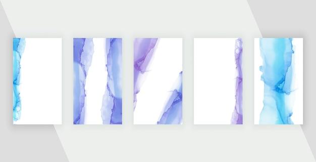 Aquarel penseelstreken voor verhalen op sociale media