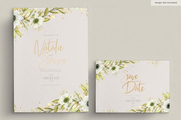 Aquarel poppy anemoon uitnodigingskaart