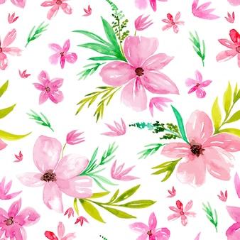 Aquarel poppy bloemen naadloze patroon