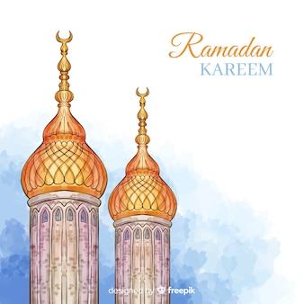 Aquarel ramadán achtergrond