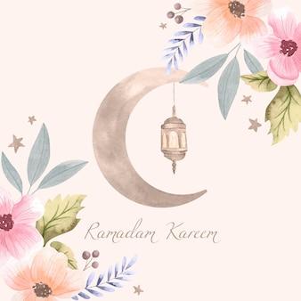 Aquarel ramadan kareem illustratie