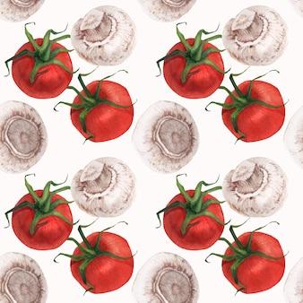 Aquarel realistische voedselpatroon