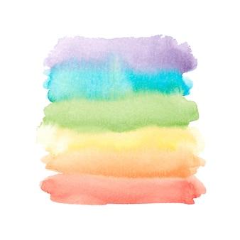 Aquarel regenboog achtergrond.
