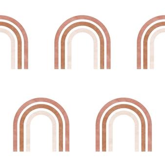Aquarel regenboog naadloze patroon