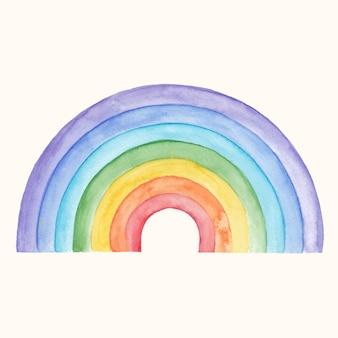 Aquarel regenboog ontwerp