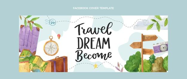 Aquarel reizen facebook omslag