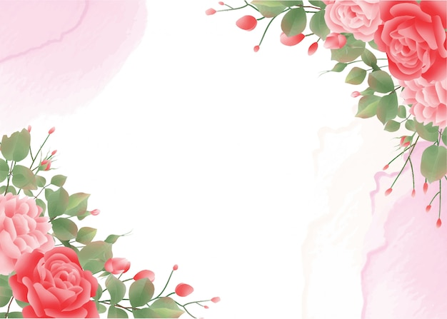 Aquarel roos achtergrond