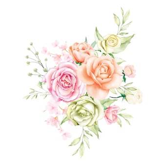 Aquarel roos boeket backfround