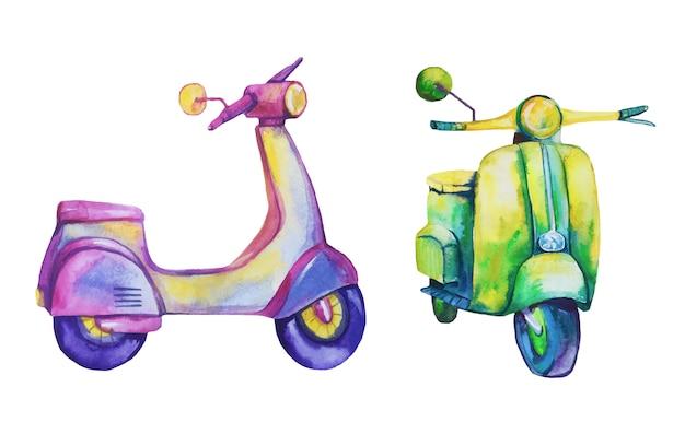 Aquarel scooters.