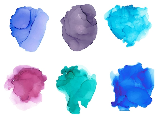Aquarel spatten geïsoleerd op een witte achtergrond artistieke hand getekende achtergrond vectorillustratie