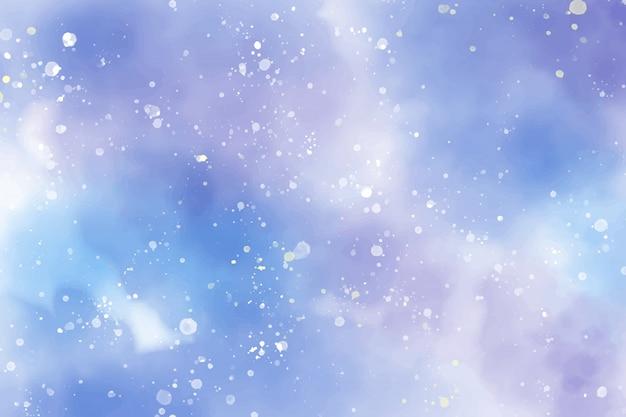 Aquarel sterrennacht abstracte achtergrond
