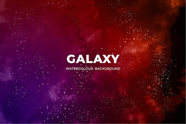 Aquarel sterrenstelsel achtergrond