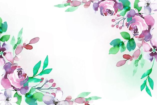 Aquarel stijl bloemen achtergrond