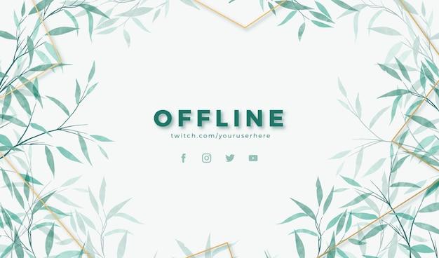 Aquarel stijl offline banner met bladeren ontwerp