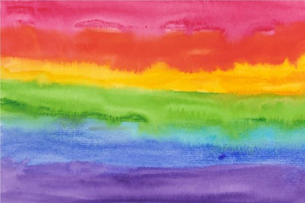 Aquarel stijl regenboog