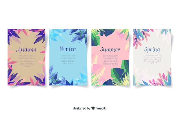 Aquarel stijl seizoensgebonden poster collectie