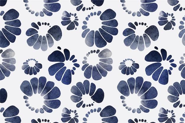 Aquarel stijl shibori patroon
