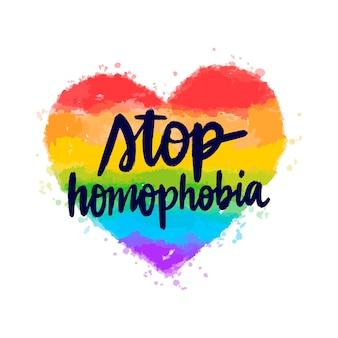 Aquarel stop homofobie