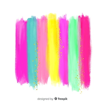 Aquarel strepen met glitter achtergrond
