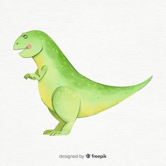 Aquarel t-rex achtergrond