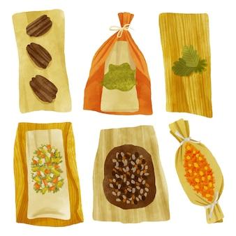 Aquarel tamales collectie