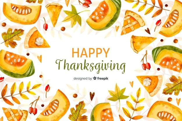 Aquarel thanksgiving achtergrond