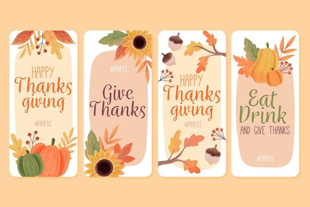 Aquarel thanksgiving instagram-verhalen