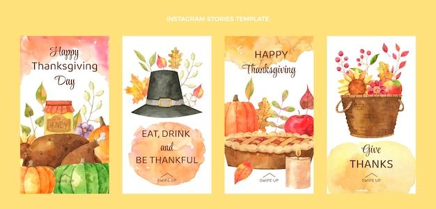 Aquarel thanksgiving instagram verhalencollectie