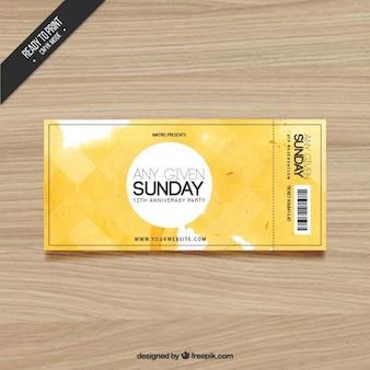 Aquarel ticket