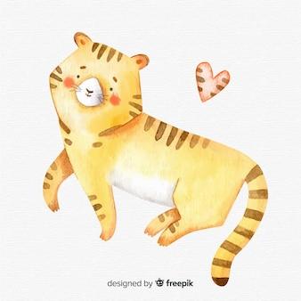 Aquarel tijger