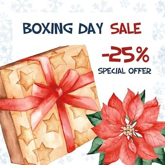 Aquarel tweede kerstdag speciale aanbieding te koop