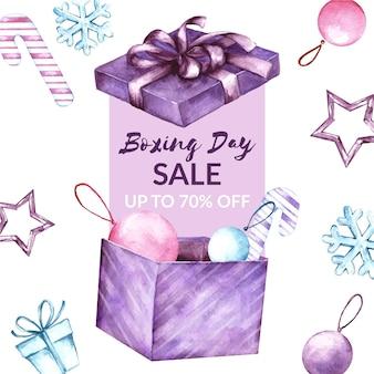 Aquarel tweede kerstdag verkoop