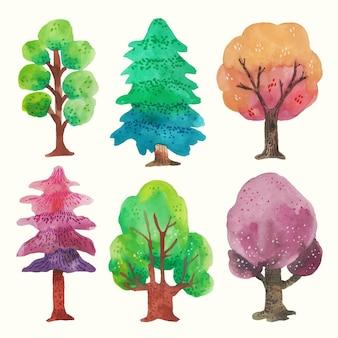 Aquarel type bomen